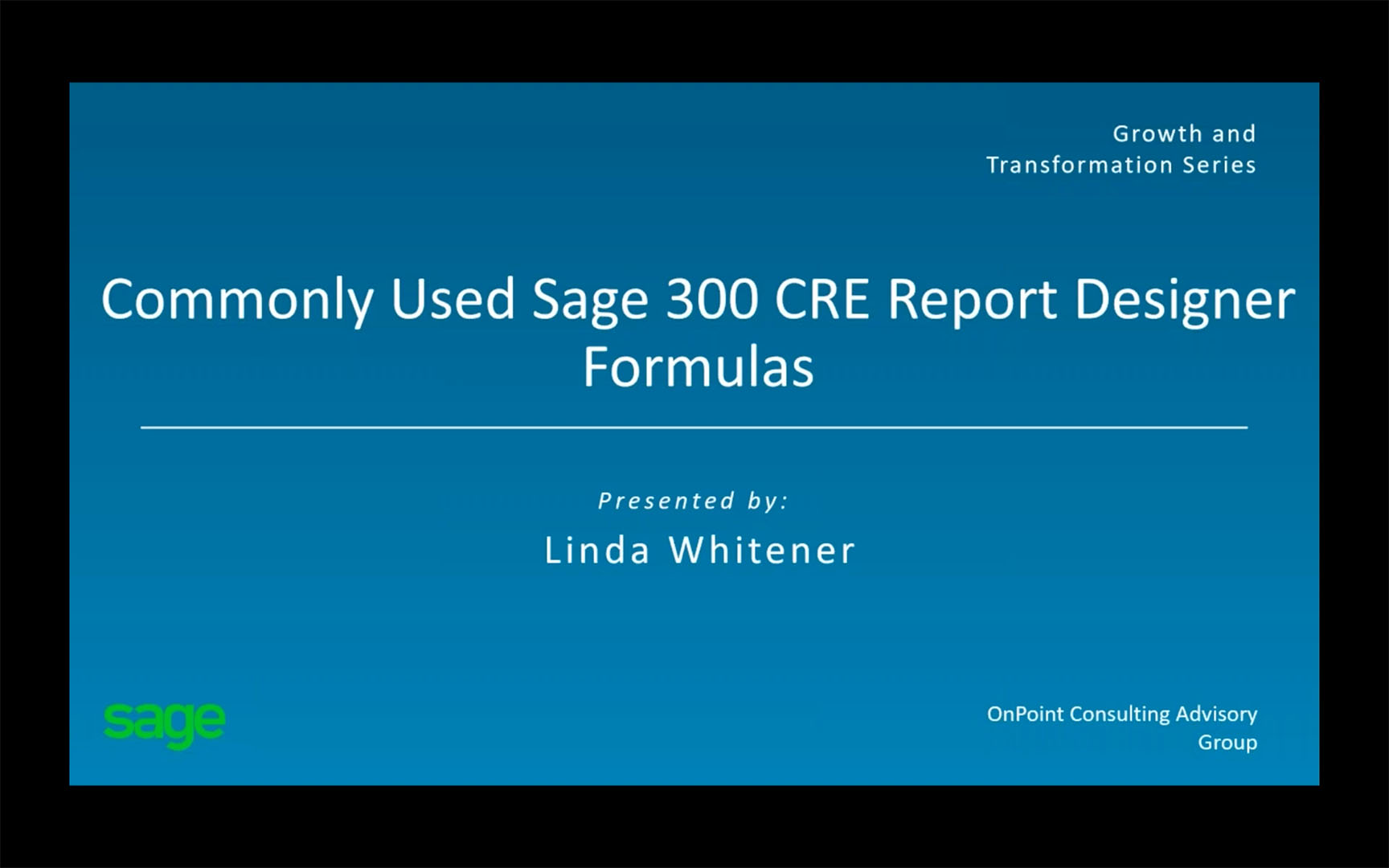 Commonly used Sage 300 CRE Report Designer Formulas