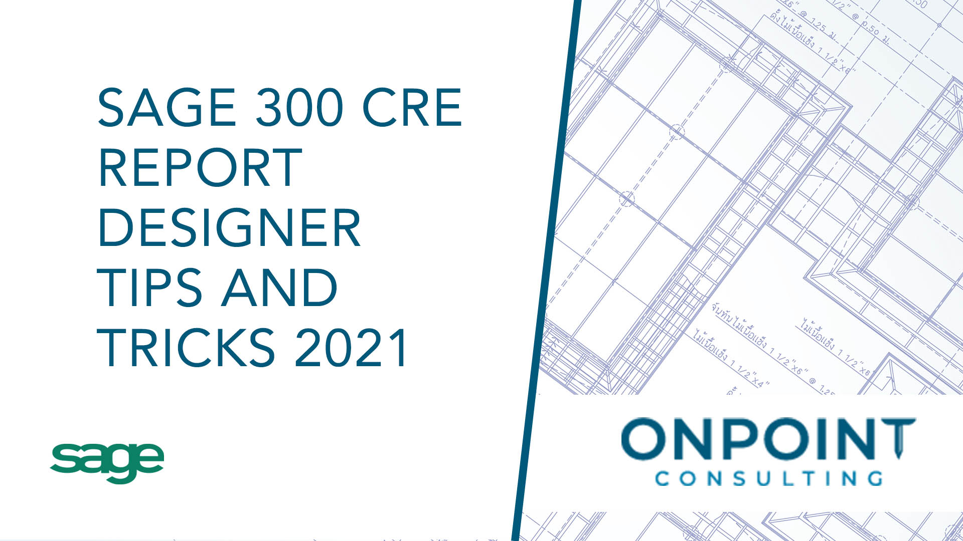 Sage 300 CRE Report Designer Tips and Tricks