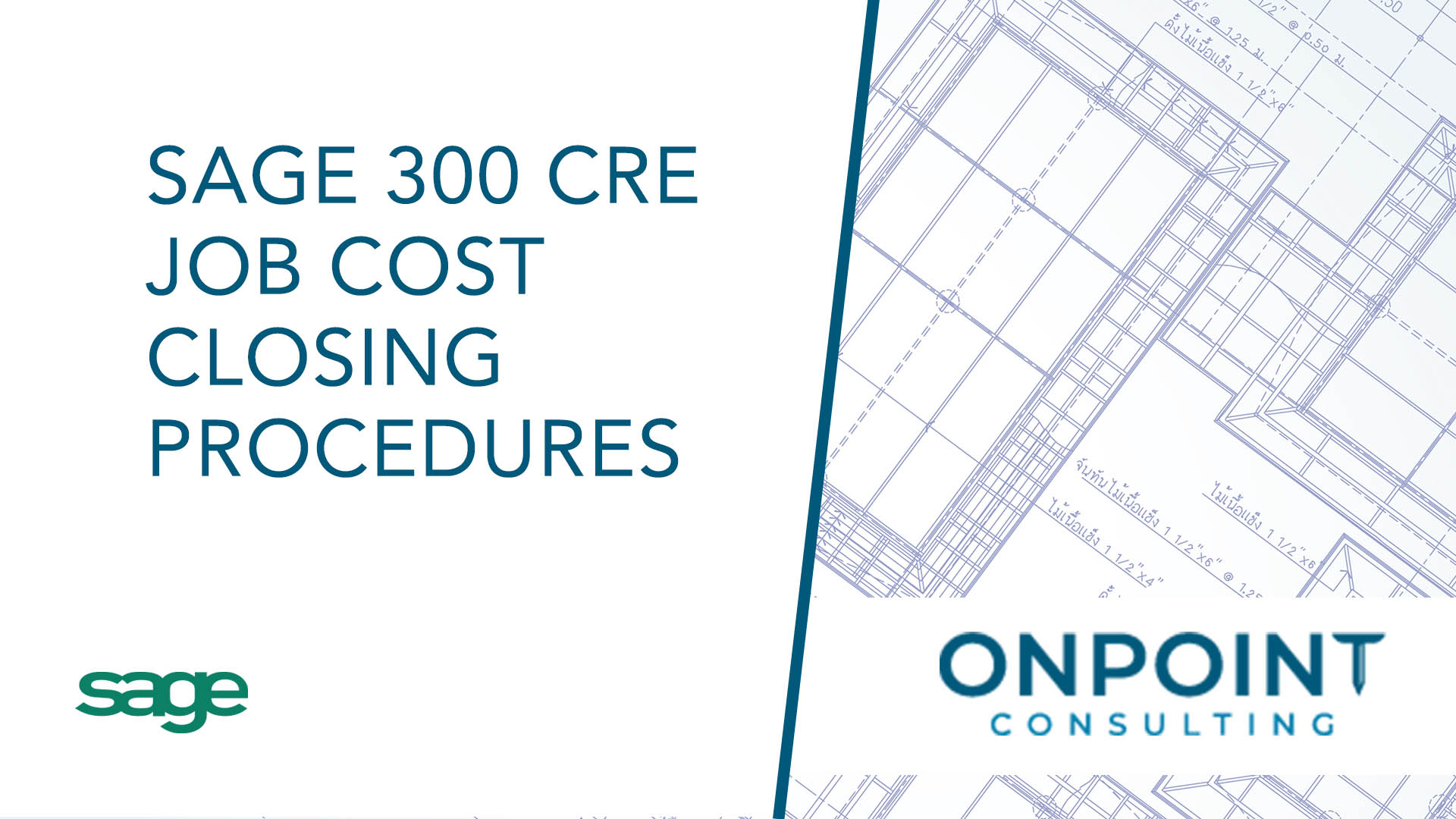 Sage 300 CRE Job Cost Closing Procedures